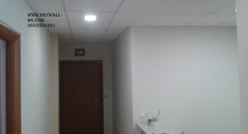 Армстронг тавани , монтаж, Монтаж на преградни стени.