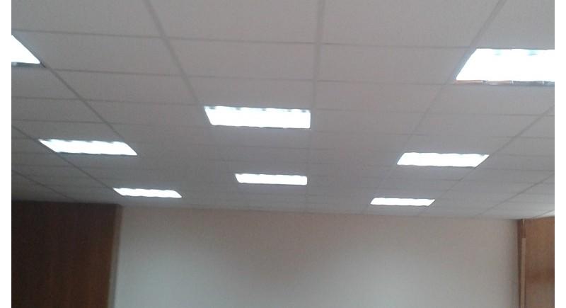 Окачени тавани растер в офиси .
