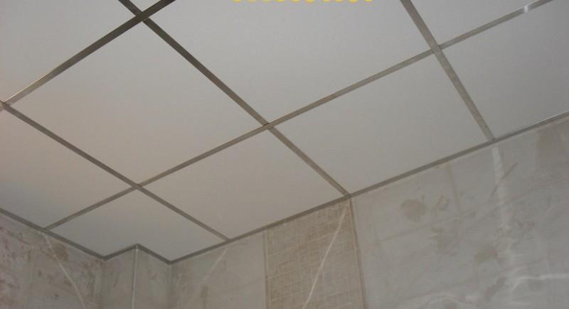 Монтаж на окачен таван в мокро помещение .