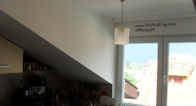 Монтаж на окачен таван от гипсокартон.