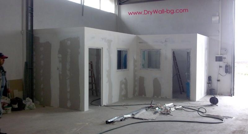 Гипсокартон , преградна стена
