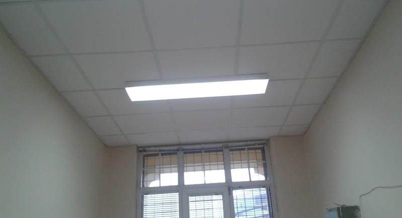 Растерен окачен таван .