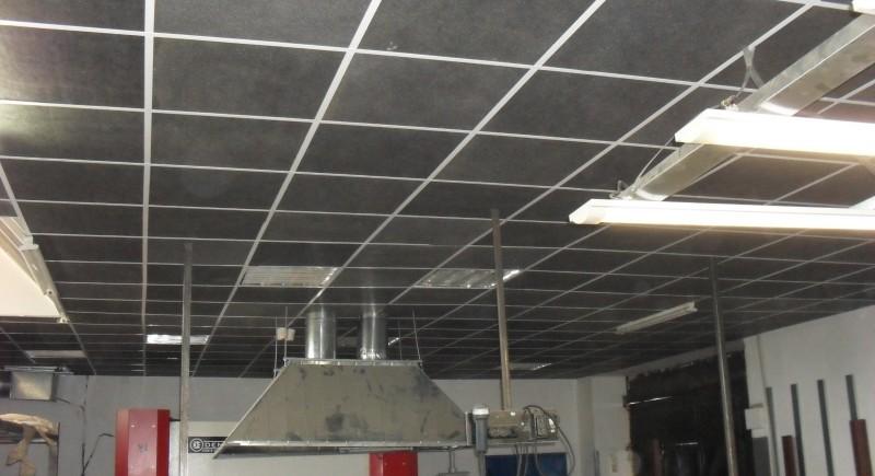 Окачен растерен таван, минерал фазерни пана