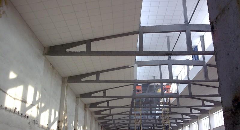 Монтаж на окачени тавани тип растер .